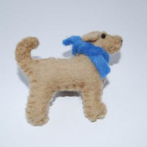 Yellow Labrador brooch