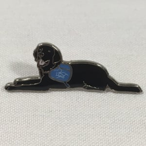 Labrador pin badge