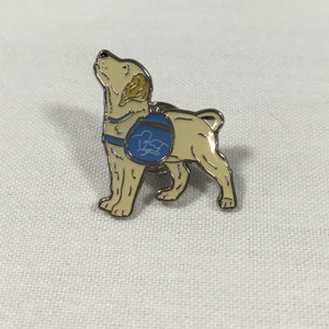 Puppy pin badge
