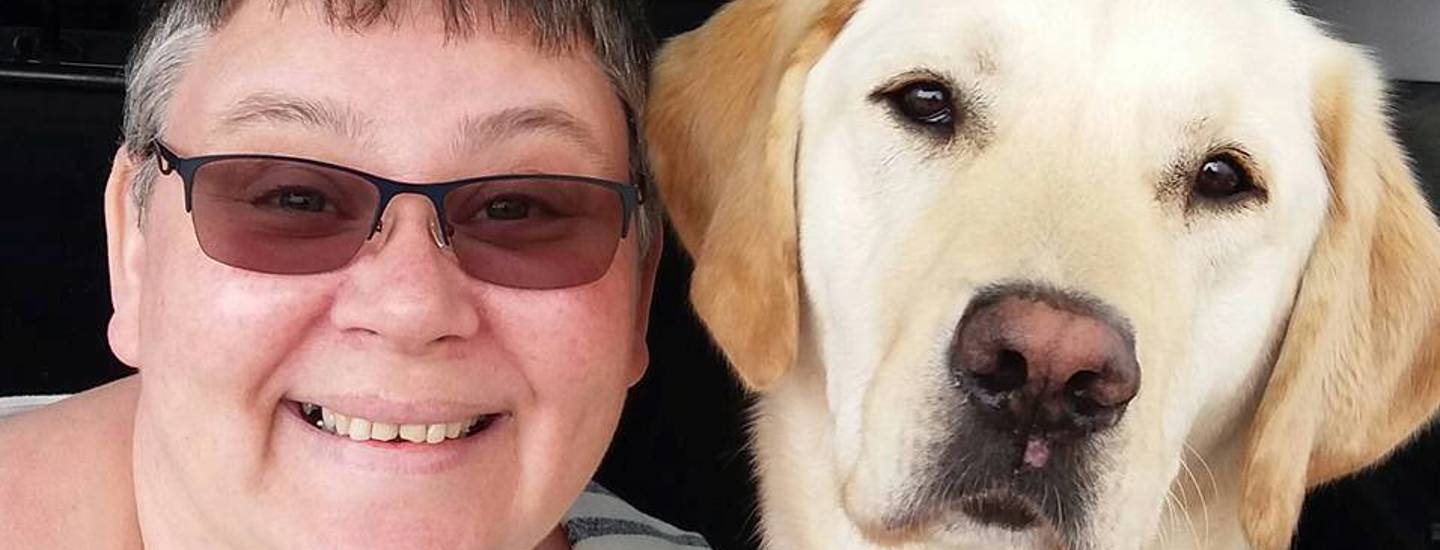 Kim Winter and Billy, disability assistance dog