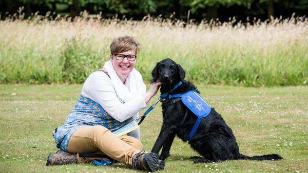 Andrea Jack and Ruby, disability assistance dog