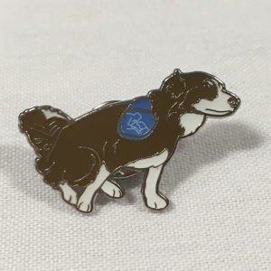 Collie pin badge