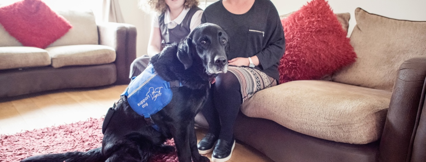 Elizabeth and Oyster, autism assistance dog
