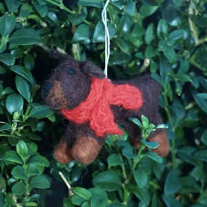 Yorkshire Terrier Christmas tree decoration