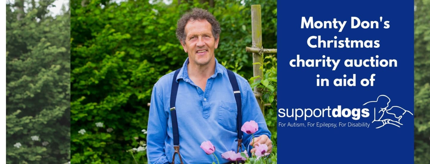 Monty Don's Christmas auction for Support Dogs