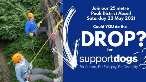 Peak District Abseil for Support Dogs