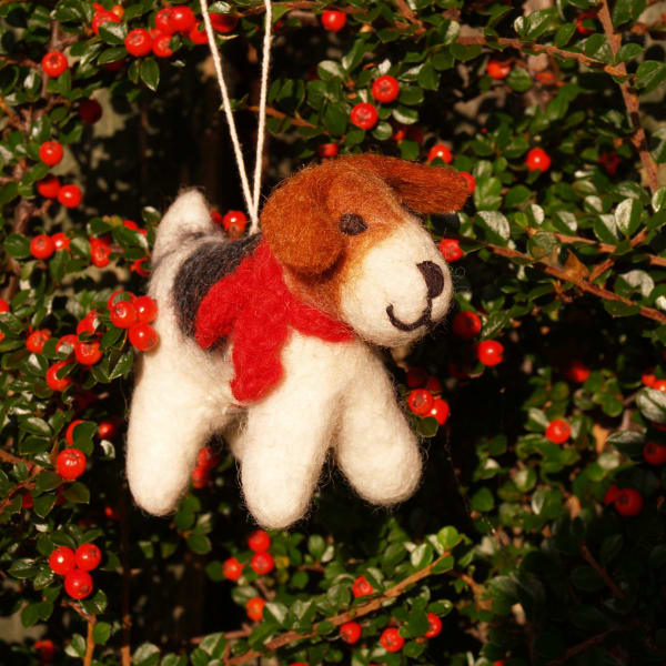 Fox Terrier Christmas tree decoration