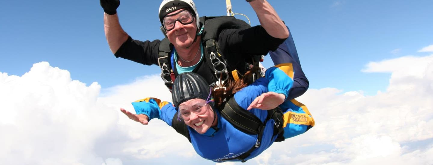 Trevors doing a skydive