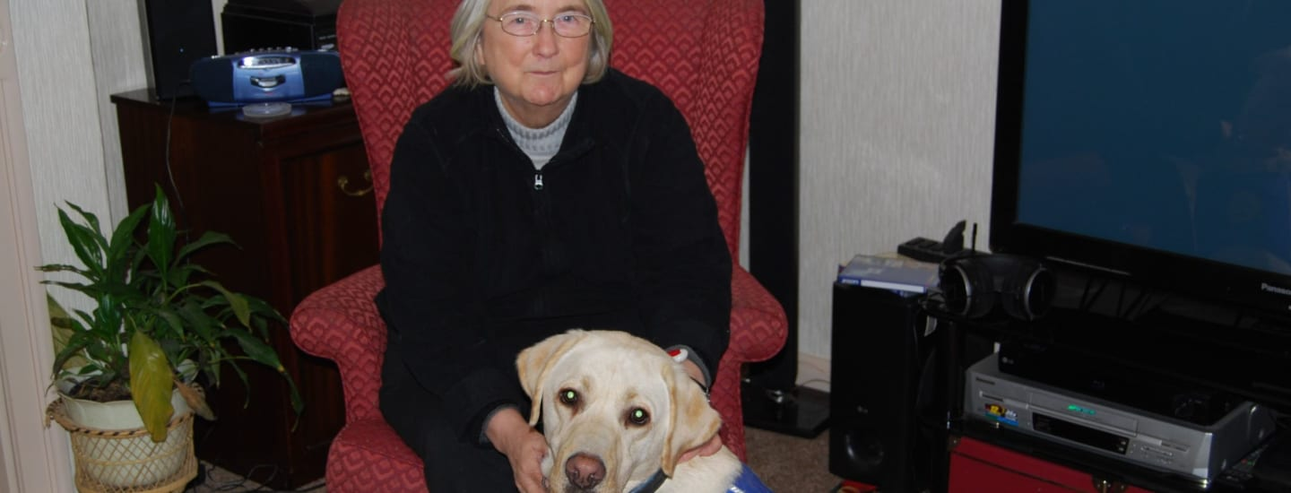 Sheila's support dogs:  helping her make the most of life