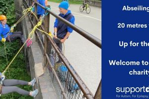 Millers Dale Bridge Abseil for Support Dogs